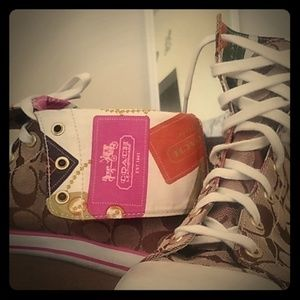 Coach High Top Roll Down Sneakers